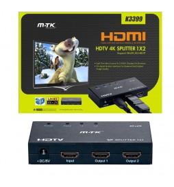 SWITCH HDMI 3 PORTS 1 ENTREE / 2 SORTIES M.T.K  K3399