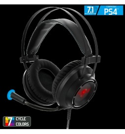 CASQUE GAMER SPIRIT OF GAMER ELITE-H70 7.1 AVEC 7 CYCLES COULEURS LED POUR PS4
