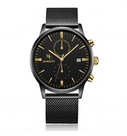MONTRE HOMME L'INTENABLE - GOLD MESH MADNESSCUFF EDITION