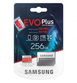CARTE MICROSDXC SAMSUNG EVO+HA 256 GB CL10 UHS-I U3 MC