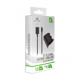 KIT BATTERIE + CABLE FREAKS AND GEEKS POUR MANETTE XBOX SERIE X